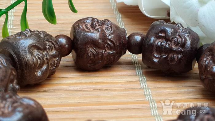 49 越南红土沉香18罗汉佛珠手串20X1.5厘米图5