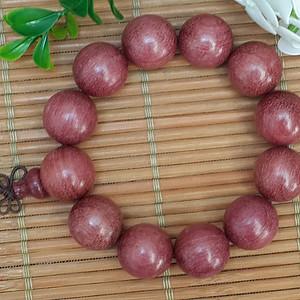 38 巴西紫玫瑰紫心木猫眼紫苏佛珠手串15MM