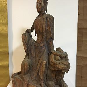 元代木雕文殊菩萨