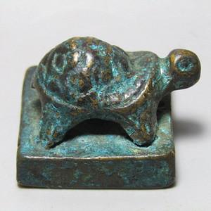 老铜打造 玄武 方印 手工篆刻 包浆厚重