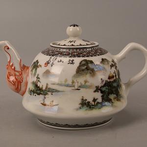欧洲回流名家山水茶壶
