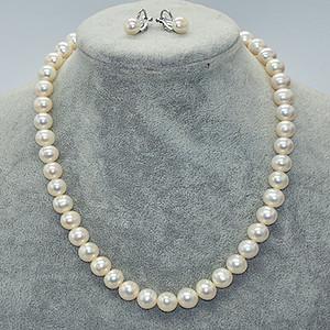 48.9克珍珠项链 耳钉一套