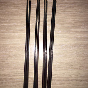 紫檀木包银筷四双
