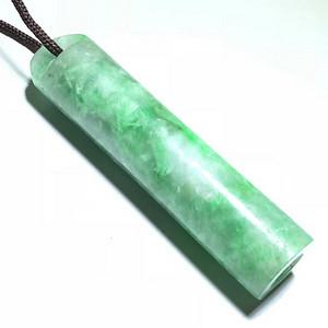 重器 清中晚期 冰糯种 翡翠近满绿 领馆 颜色辣绿漂亮 水头荧光都上乘