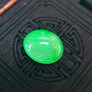 金牌  冰润阳绿戒指蛋面