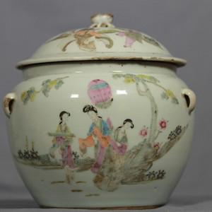民国早期瓷绘名家洪子明作品粉彩