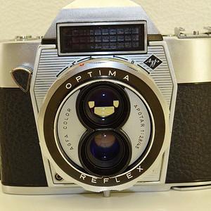 金牌 Agfa爱克发1960年代双镜头单反光学相机