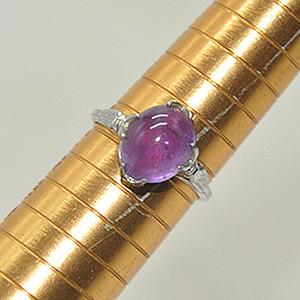 1.9克镶紫水晶戒指