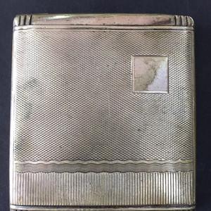8032欧洲老合成银烟盒
