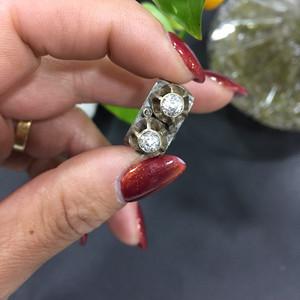 8059欧洲老银嵌宝石戒指