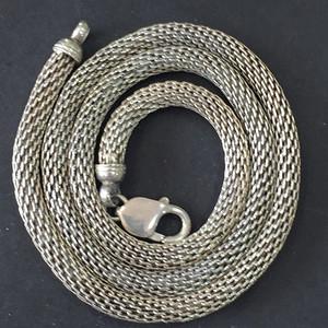 8067老银粗项链