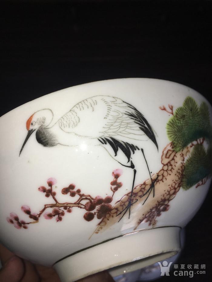 画松鹤的大碗图4