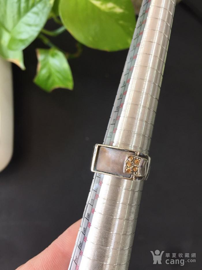 8094欧洲回流老银嵌螺钿大方戒图10