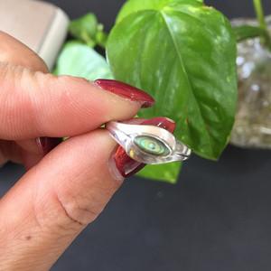 8095欧洲回流银嵌螺钿戒指