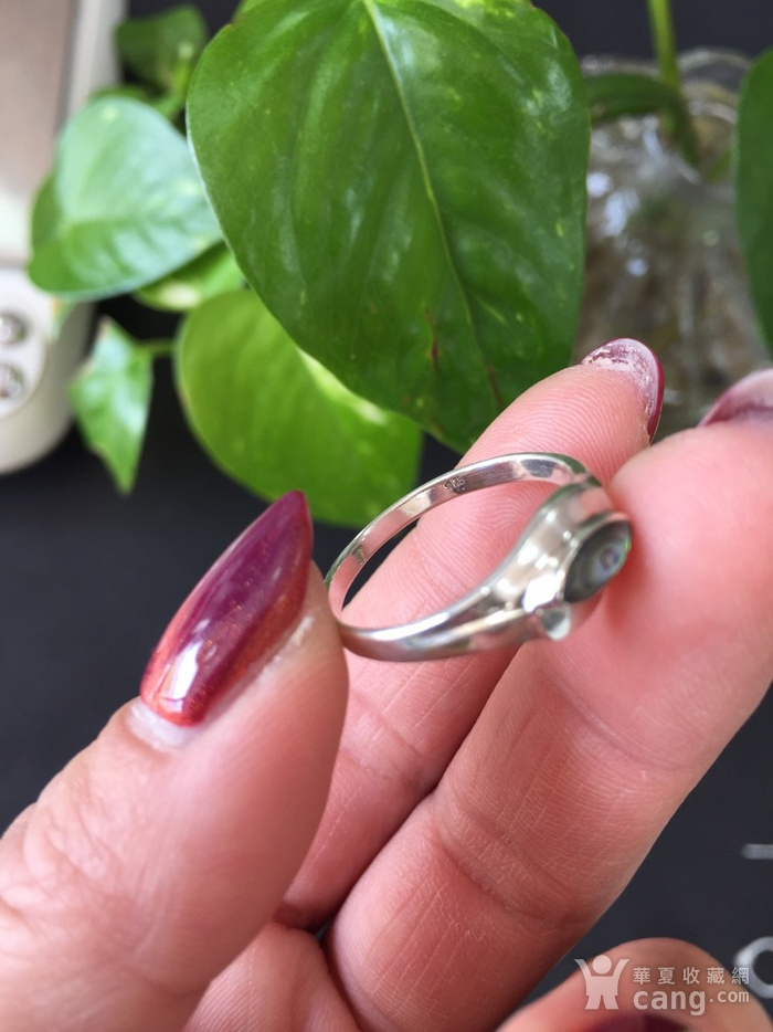 8095欧洲回流银嵌螺钿戒指图3