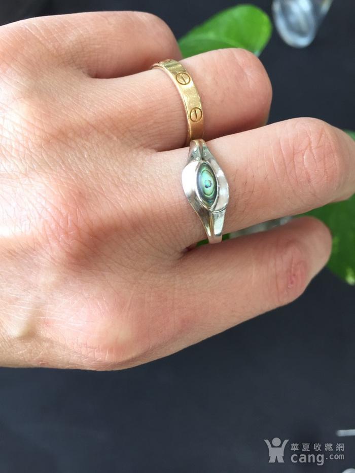 8095欧洲回流银嵌螺钿戒指图6
