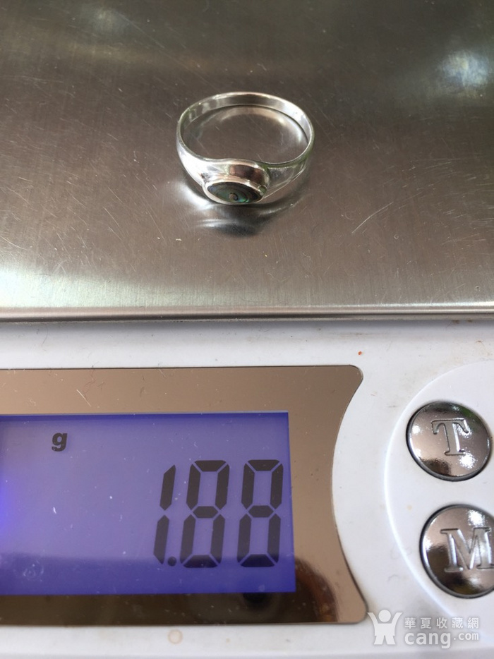 8095欧洲回流银嵌螺钿戒指图8