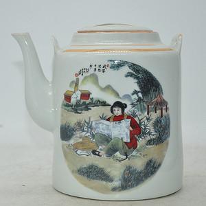 景德镇粉彩茶壶