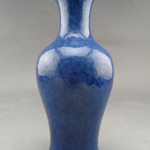 33.清代 霁蓝釉观音瓶
