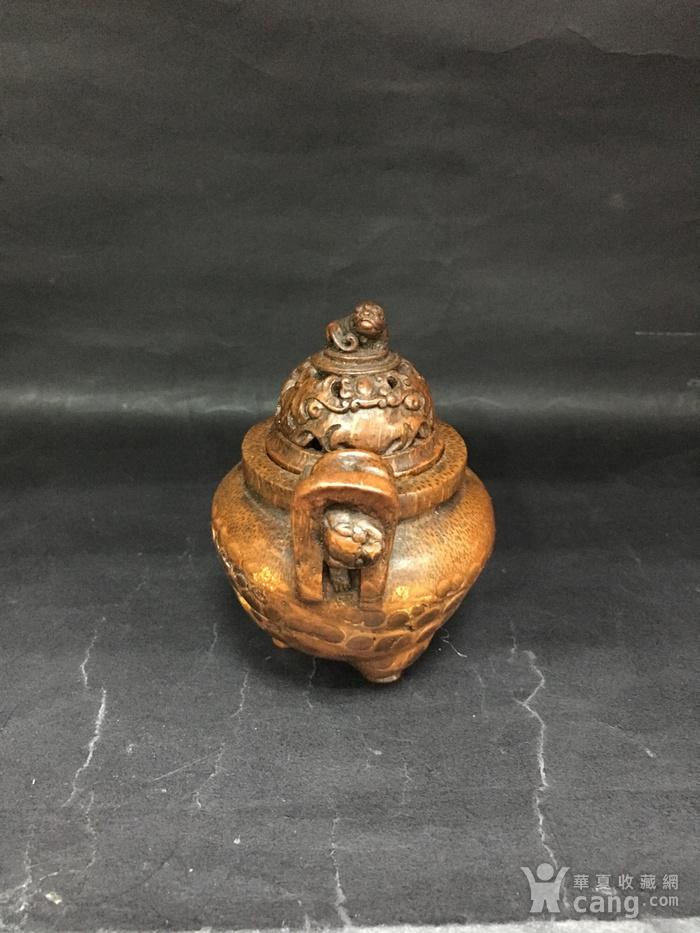 竹雕三角香薰炉图4