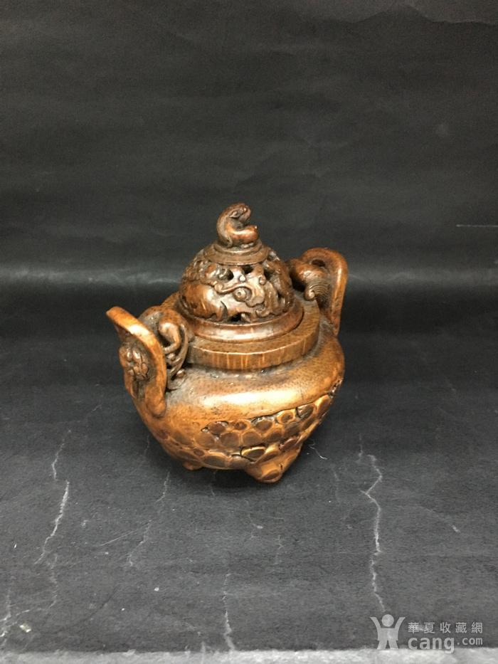 竹雕三角香薰炉图2
