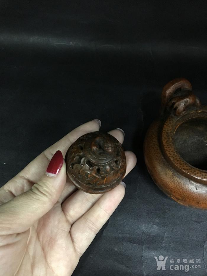 竹雕三角香薰炉图9
