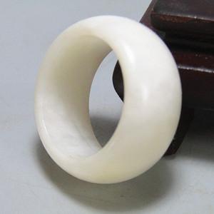 和田一级白玉 指环 戒指白度润度极佳