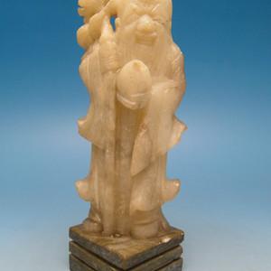 43.民国 寿山石雕寿星像