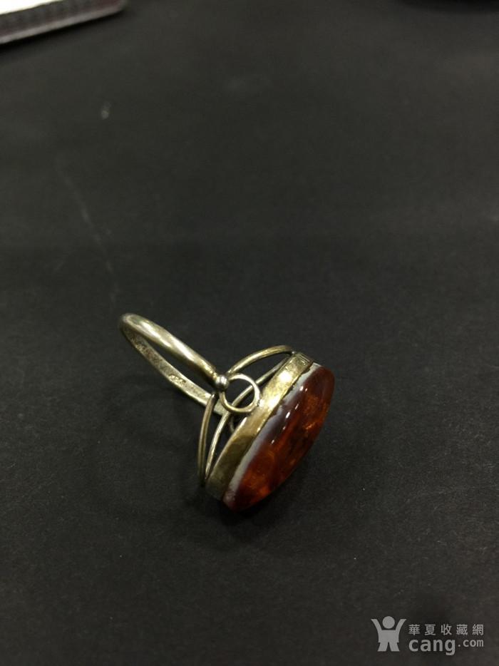 8124俄罗斯金工琥珀戒指图3