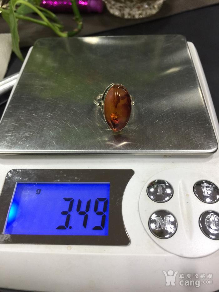 8124俄罗斯金工琥珀戒指图8