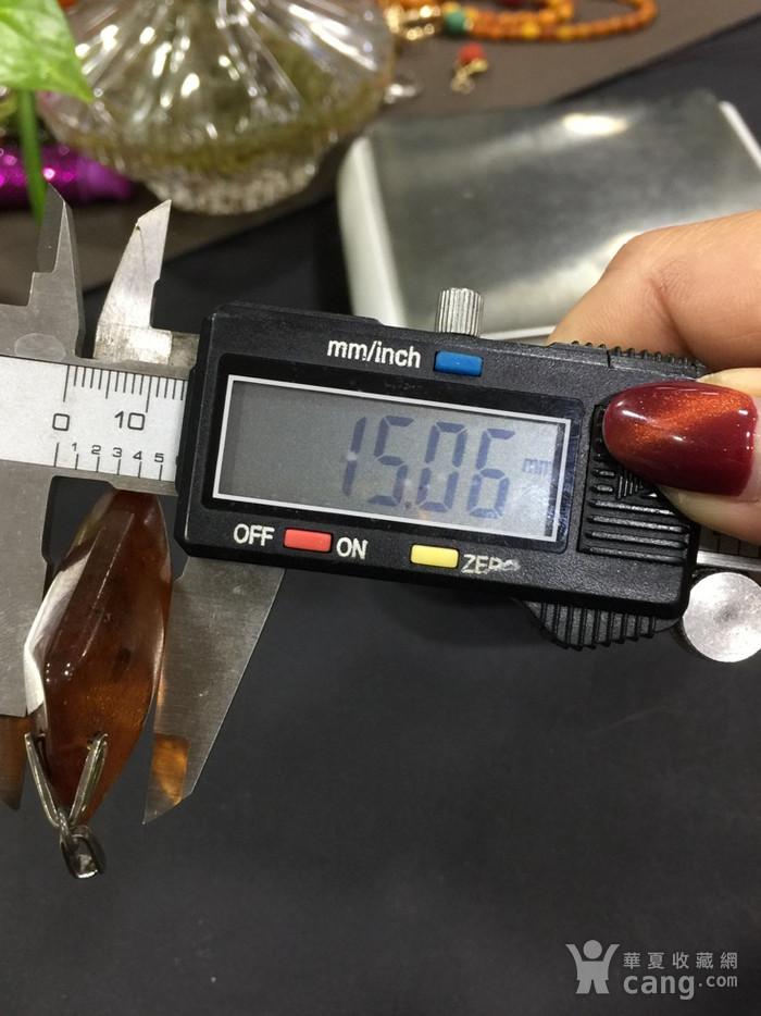 8130俄罗斯银工扣头琥珀坠子图10