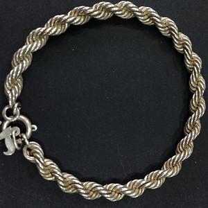 8133欧洲回流银手链