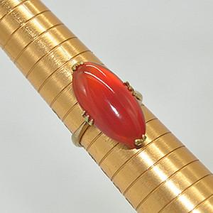 3.2克红玛瑙戒指