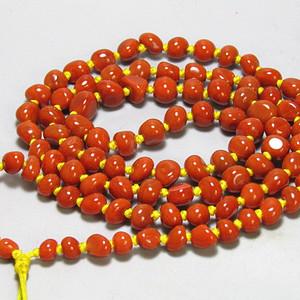 正宗保山南红玛瑙 塔罗 随形珠 项链100粒
