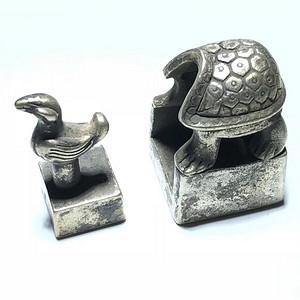 明 银制 母子 龟印 地方官印 造型美观 设计理念非常独特