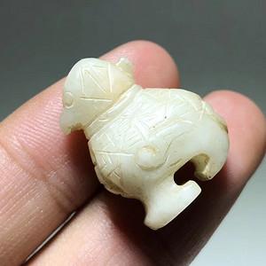 辽代 和田玉 玉鸟 挂坠 器型罕见 工艺不错 可以做 佩珠用