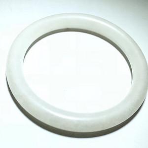 清 和田白玉 一级白 圆条手镯 形状规整 橘皮纹清晰 白度好 收藏级