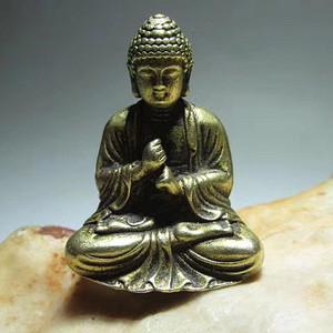 精品 开门到代 晚清 精工铸造 铜质 大日如来佛主 坐像 神态端庄