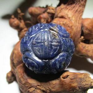开门到代 清早期 青金石 团寿纹 背鱼 雕刻精美 包浆老道 难得完美品