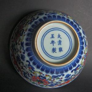 清 雍正 斗彩碗