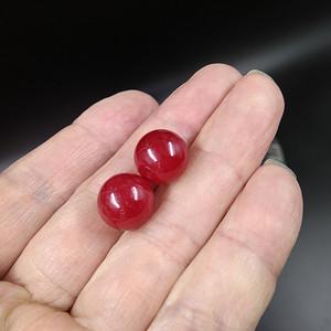 老红翡玉耳坠 非常贵气精美