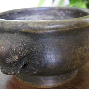 清代 精铜香炉