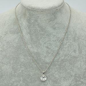 8.7克镶水晶吊坠项链