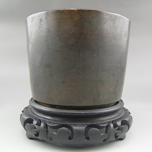 61.民国 直筒铜香炉