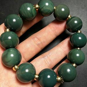 精品绿玛瑙手串