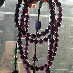 精品天然紫晶朝珠