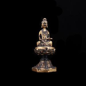 海外回流 三国时期铜鎏金观音造像