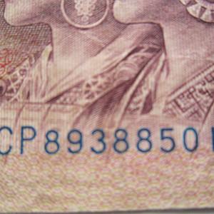 原票天蓝冠1980年1元稀少CP8 388501