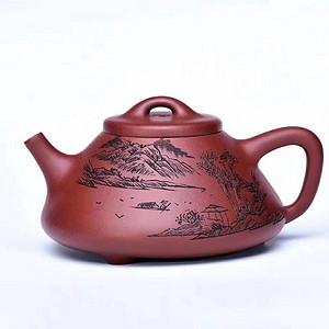 名称 山水 石瓢壶