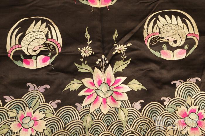 清晚期,纯手绣团凤马褂。支持鉴定长眼图10